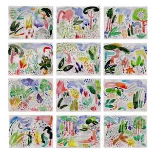 "Set of 12 8x10"" Giclee Prints of Botanical English Garden Series Watercolors. For Sale"