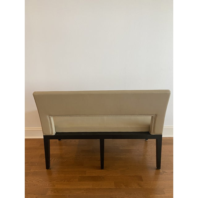 Holly Hunt Holly Hunt Christian Liaigre Leather Velin Banquette Bench For Sale - Image 4 of 11