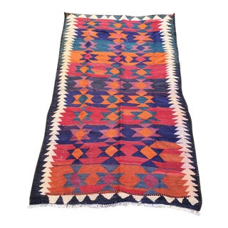 Desert Sunset Vintage Turkish Rug - 3′11″ × 7′2″ For Sale