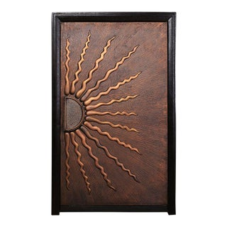Sunburst Front Copper Door For Sale