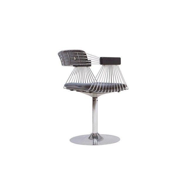 Rudi Verelst Space Age Swivel Armchairs in Chromed Steel For Sale - Image 9 of 12
