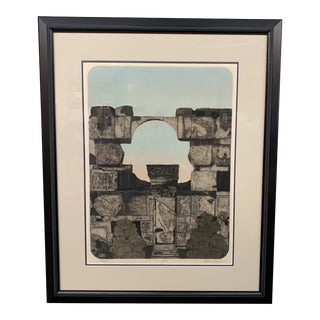 """Facade"" Limited Edition Aquatint by Eleanor Rappe For Sale"