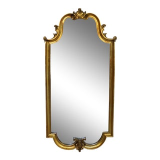 Mid Century Modern Large Hollywood Regency Gold Gilt Wall Mirror La Barge Style For Sale