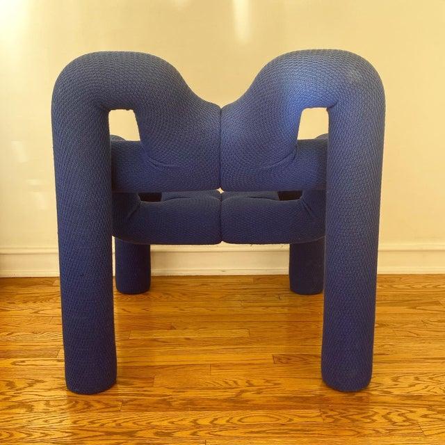 1980s Vintage Blue Ekstrem Chair by Terje Ekstrom For Sale - Image 9 of 10