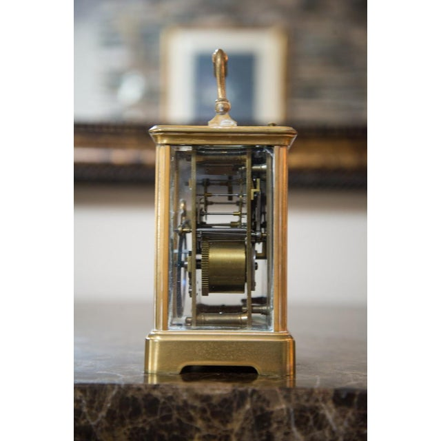 Renard Roitel French Brass Carriage Clock For Sale - Image 5 of 7