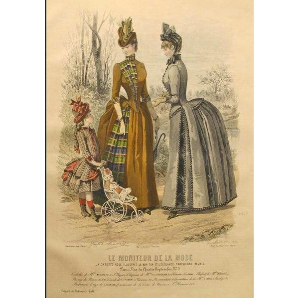 Art Nouveau 1886 Moniteur De La Mode, Parisian Ladies Fashion (Plate 11-1886) For Sale - Image 3 of 3