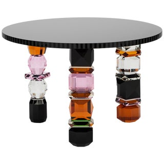 Orlando Contemporary Crystal Table For Sale
