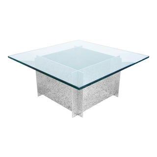 Paul Mayen Aluminum and Glass Coffee Table for Habitat For Sale