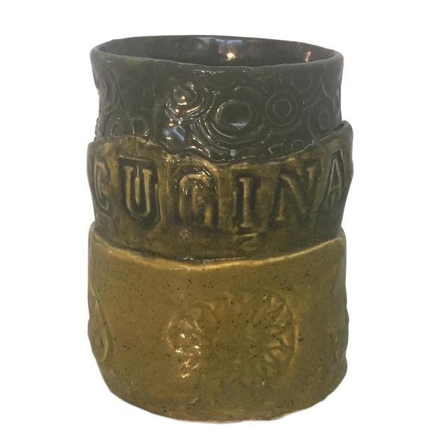 "Italian ""Cucina"" Mug Studio Pottery - Image 1 of 5"