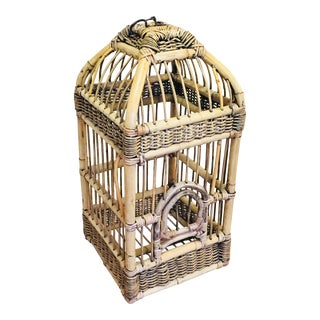 Vintage Natural Bamboo Bird's Cage