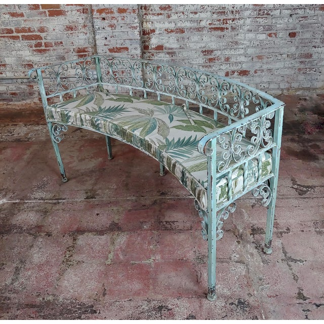 Art Nouveau Art Nouveau Antique Cast Iron Patio & Garden Settee & 2 Chairs Set For Sale - Image 3 of 10