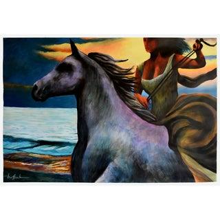 Dusk Rider - Original Geoff Greene Painting For Sale
