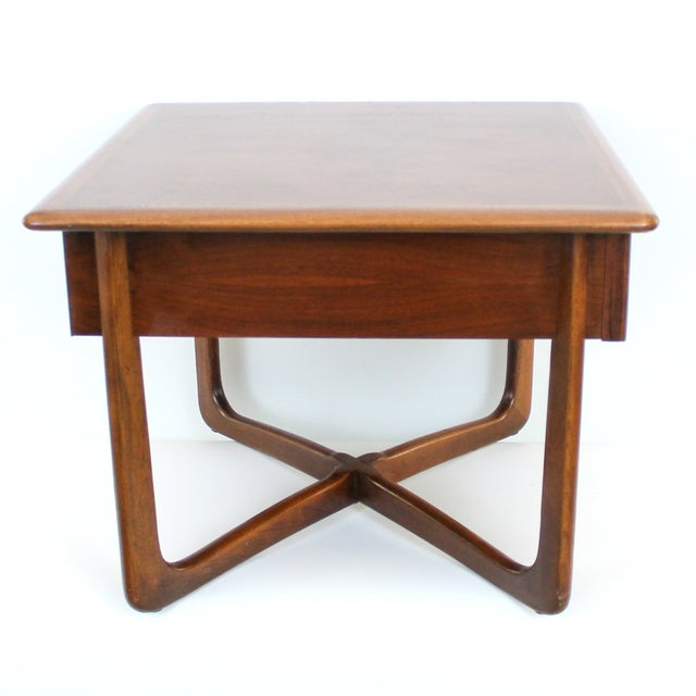 Mid-Century Lane Perception X-Base End Table - Image 4 of 10