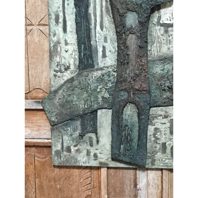 Laurent Jimenez Balaguer Brutalist Abstract High Relief Panel For Sale - Image 4 of 13