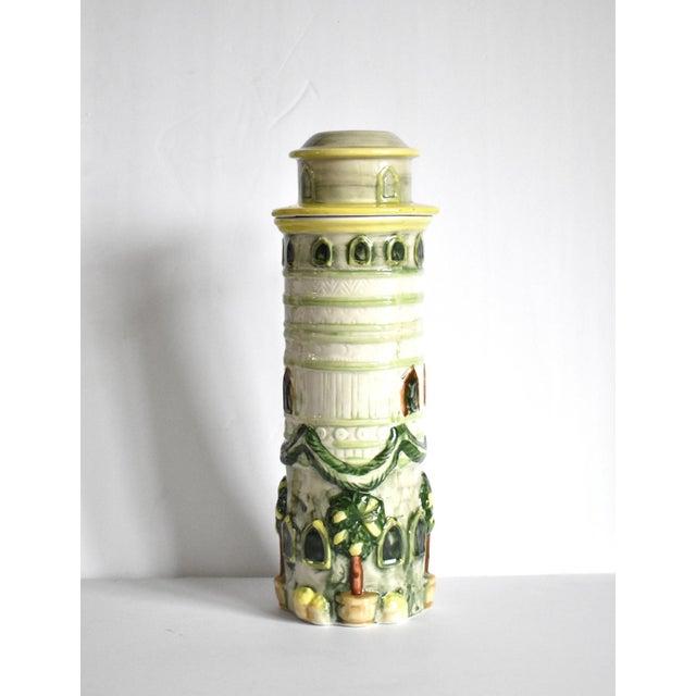 Vintage Italian Trompe l'Oeil Castle Pasta Canister For Sale - Image 4 of 9