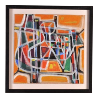 Abstract Painting by Jean Jacques Reymond, Geneva 1970s For Sale