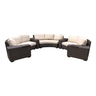 Lloyd Flanders Contempo Collection Outdoor Sectional For Sale