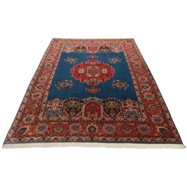 """Hand Knotted Wool Persian Tabriz Rug - 7'2"""" X 10' - Image 2 of 4"""