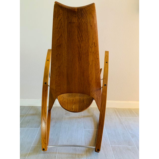 Mid Century Modern Leon Meyer Sculptural Rocking Chair For Sale - Image 9 of 13