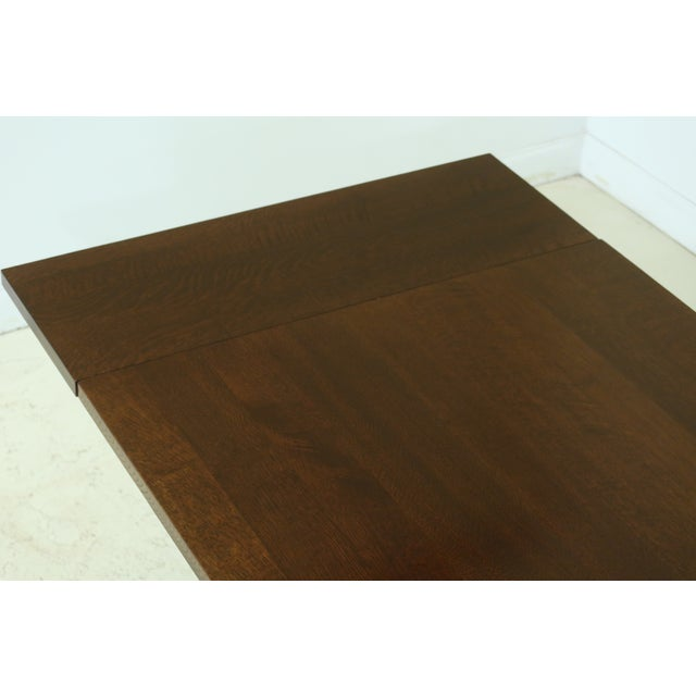 Brown Stickley Mission Oak Mousehole Dining Room Table For Sale - Image 8 of 13