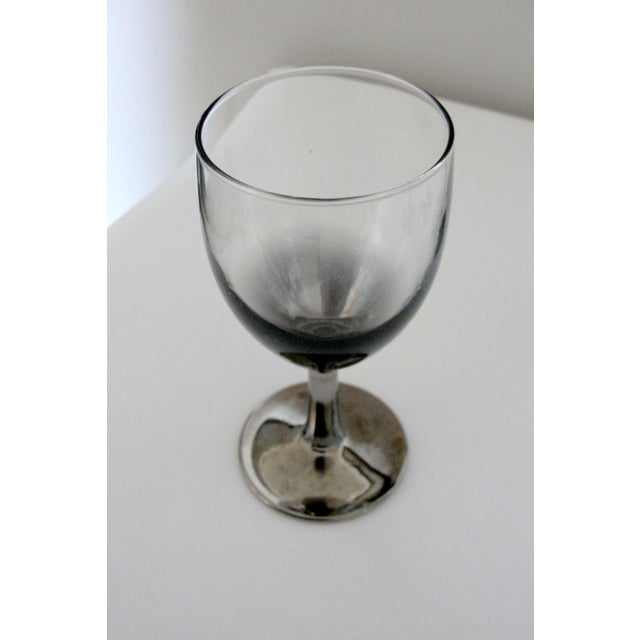 Vintage Petite Wine Glasses Marked France Silver Gray Stems - 4 - Image 7 of 11