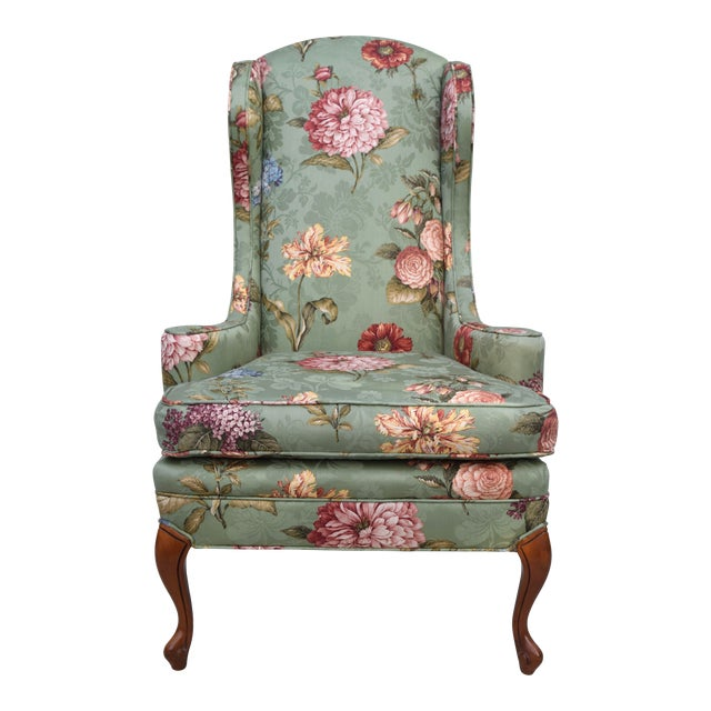 Baker Wing Back Chair For Sale