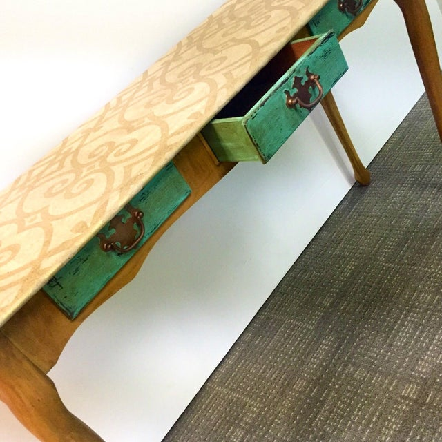 Hand-Painted Sofa Table - Image 5 of 7