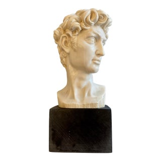 Vintage Cast Replica Bust of David by A. Santini, Italy For Sale