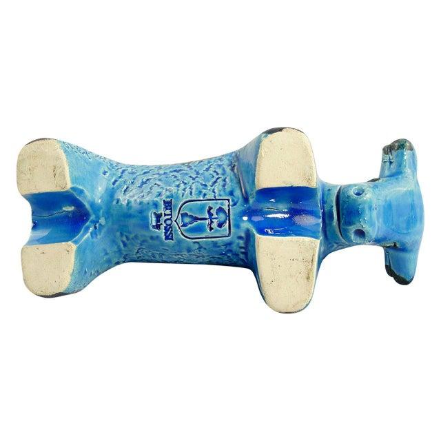 Aldo Londi Rimini Blu Ceramic Bull Sculpture by Aldo Londi For Sale - Image 4 of 5