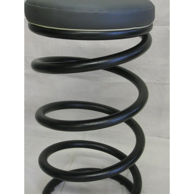Industrial Spring Stools - A Pair For Sale - Image 4 of 6