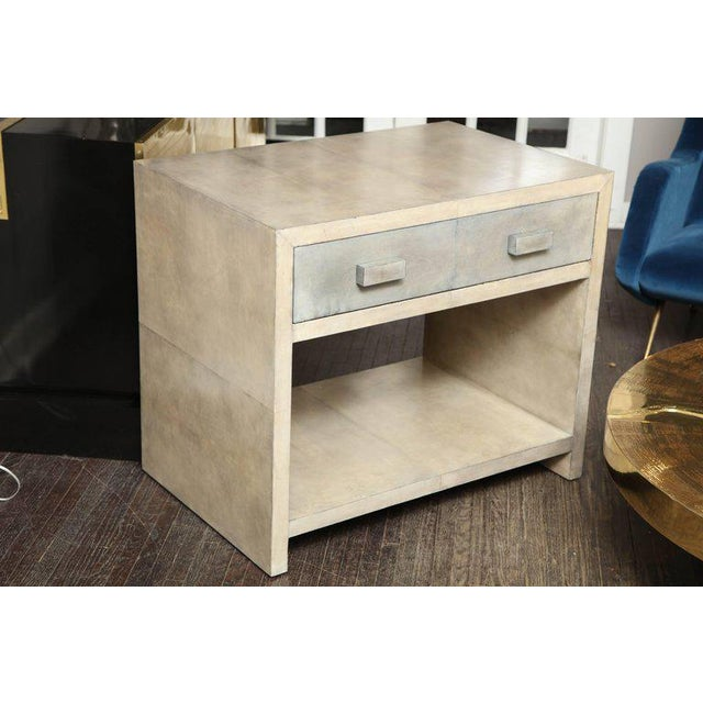 Pair of Parchment Nightstands For Sale - Image 10 of 10