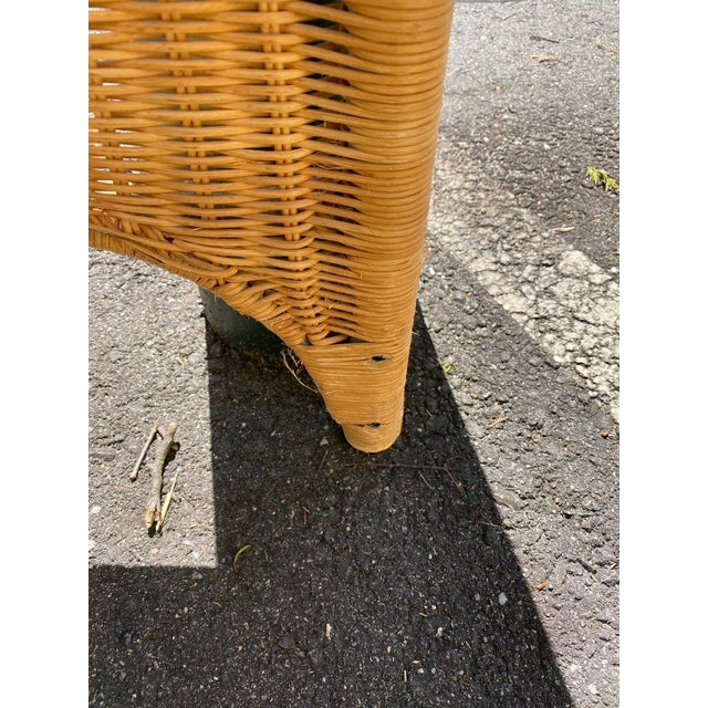 1960s Architectural Rattan Canopy For Sale - Image 5 of 13