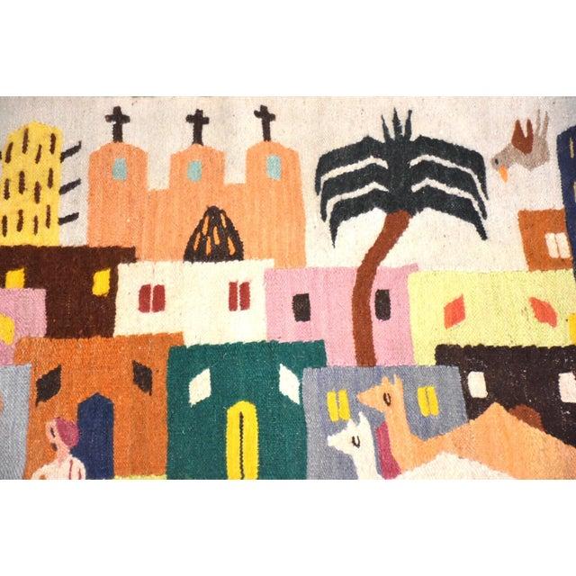 Handmade Wool Kilim Tapestry Rug For Sale - Image 9 of 10