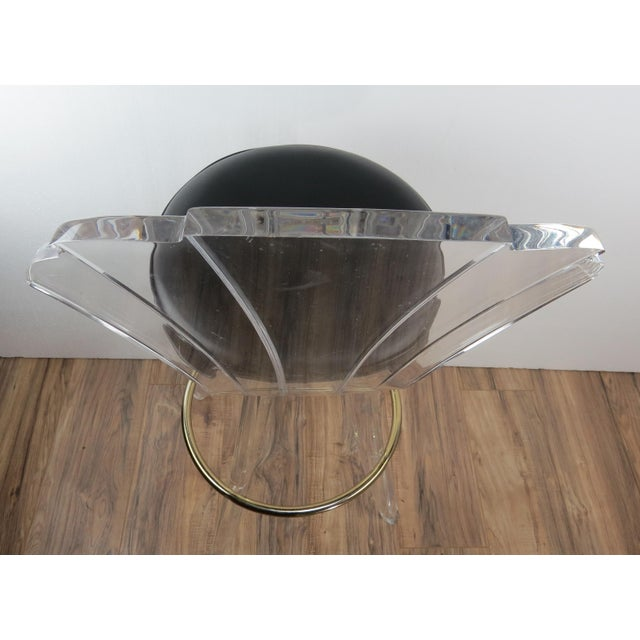 1970s Vintage Charles Hollis Jones Style Lucite Bar Stool For Sale - Image 9 of 13
