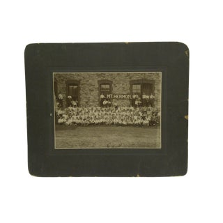 "Vintage 1901 ""Mt Hermon School"" Northfield Mass Mounted Black & White Photograph For Sale"