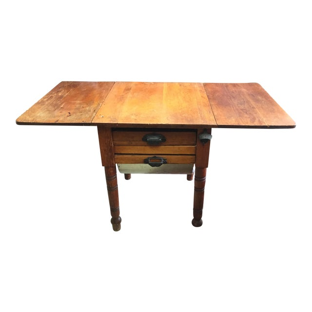 20th Century Country Flour Bin Table For Sale
