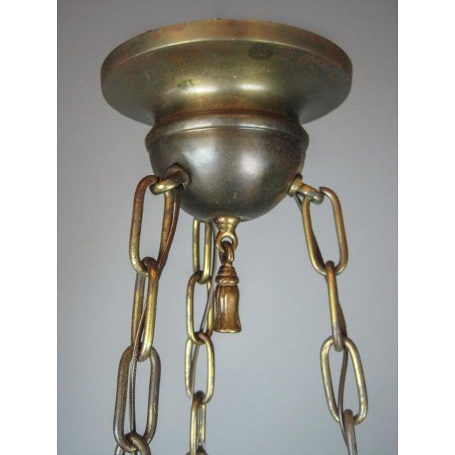 Original Arts & Crafts Bowl Light Fixture For Sale - Image 10 of 11
