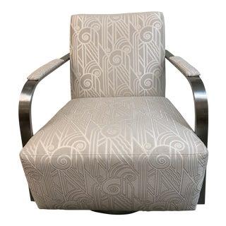 Thayer Coggin Zac Swivel Arm Chair For Sale