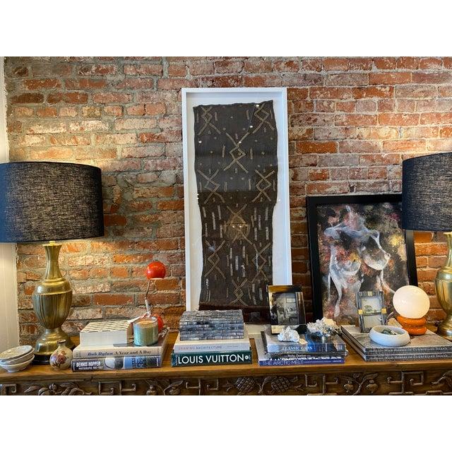 Mounted Vintage Shoowa Kuba Cloth Panel For Sale - Image 9 of 10