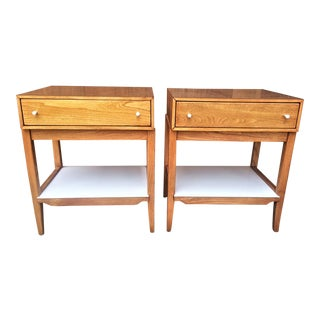 1950s Mid-Century Modern Lawrence Peabody for Richardson Brothers Co. Nightstands - a Pair For Sale