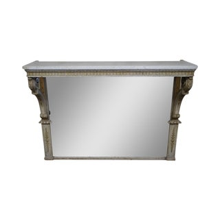 Antique French Louis XV Marble Top Mirror For Sale