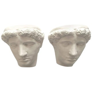 Giacometti Style Plaster Sconce Lamps - A Pair