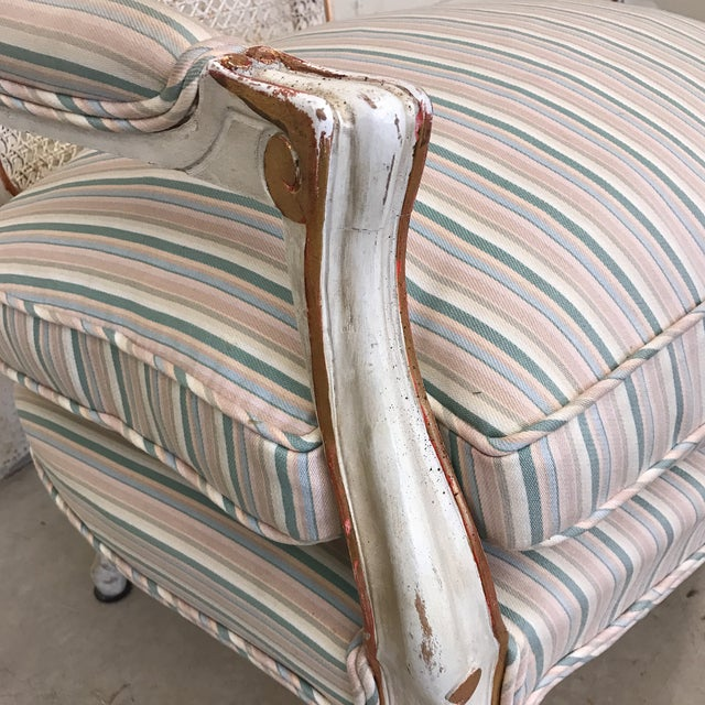 Fabric Fratelli Boffi Italian French Style Chair For Sale - Image 7 of 11