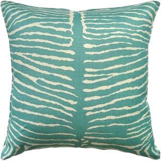 Contemporary Brunschwig and Fils Le Zebre Aqua Pillow - 22x22 For Sale