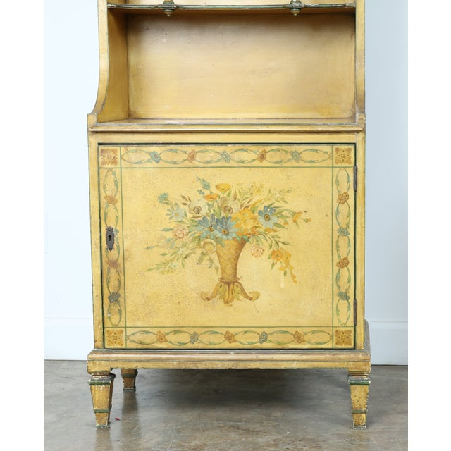Hand-Painted Yellow Cabinet - Image 3 of 11