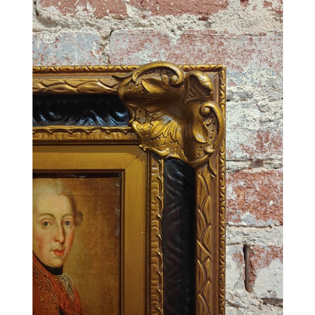"""Canvas 18th Century """"Ferdinand DI Borbone, King of Naples"""" Oil Painting For Sale - Image 7 of 10"""