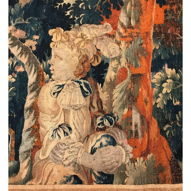 Mid 18th Century 18th Century French Aubusson Tapestry With Cherubs at Play For Sale - Image 5 of 12
