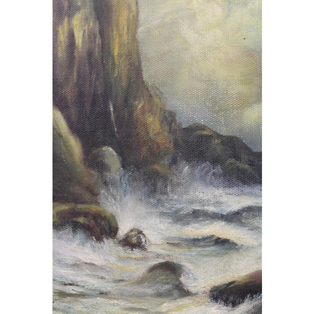 Canvas Late 19th Century Oil on Board Seascape Painting For Sale - Image 7 of 11
