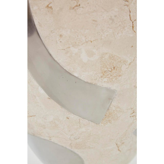 "1990s Vintage Medium Postmodern Tessellated Stone ""Et Cetera"" Planter For Sale In Los Angeles - Image 6 of 10"