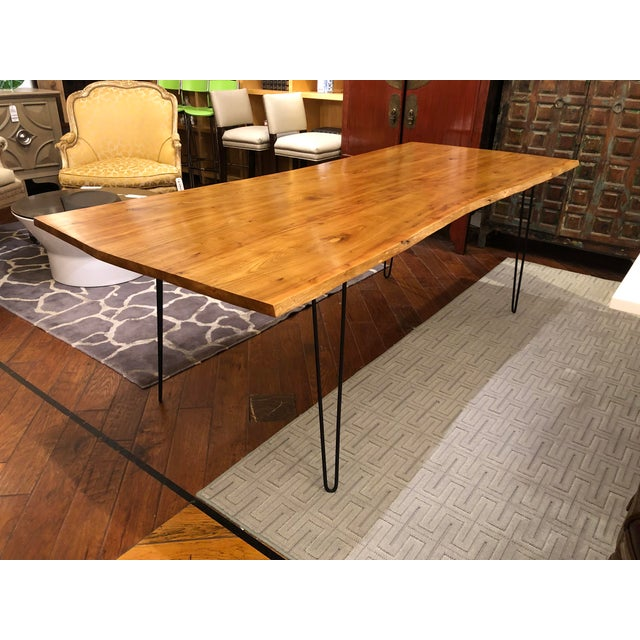 Custom Live Edge Wood Table For Sale - Image 4 of 11